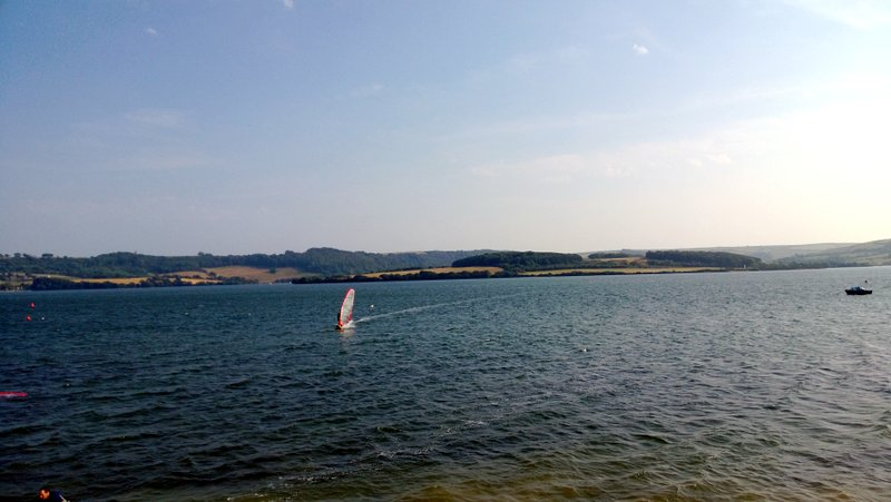 Windsurfing in the fun at St Johns Lake